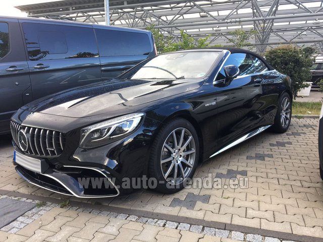 Rental Mercedes-Benz S 63 AMG Cabriolet V8 BITURBO 4MATIC+ in Courchevel