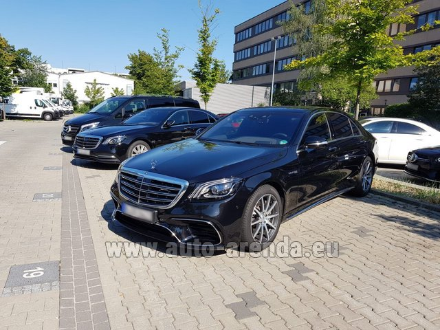 Rental Mercedes-Benz S 63 AMG Long in Courchevel