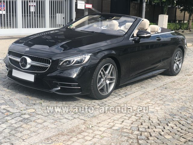 Hire and delivery to Genève Aéroport (GVA) the car Mercedes-Benz S-Class S 560 Cabriolet 4Matic AMG equipment