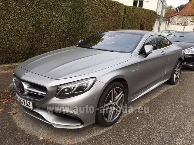 Rental Mercedes-Benz S-Class S63 AMG Coupe in Courchevel
