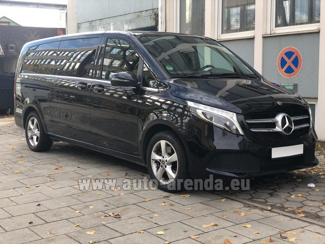 Hire and delivery to Aéroport Lyon-Saint Exupéry (LYS) the car Mercedes-Benz V-Class V 250 Diesel Long (8 seater)