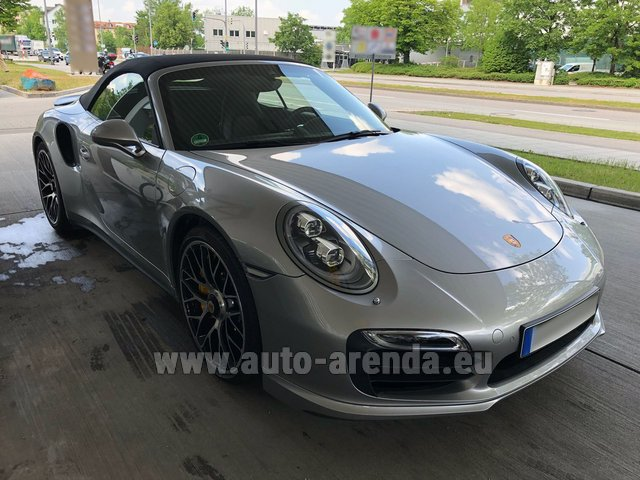 Hire and delivery to Grenoble Isère Aéroport (GNB) the car Porsche 911 991 Turbo S