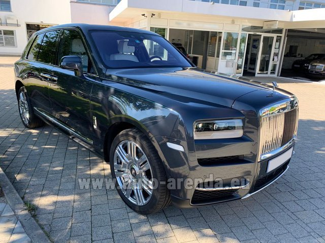 Hire and delivery to Genève Aéroport (GVA) the car Rolls-Royce Cullinan Black