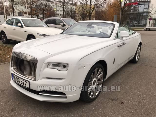 Hire and delivery to Genève Aéroport (GVA) the car Rolls-Royce Dawn