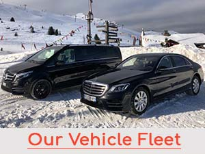 Our car fleet for transfers from airports and cities of Europe